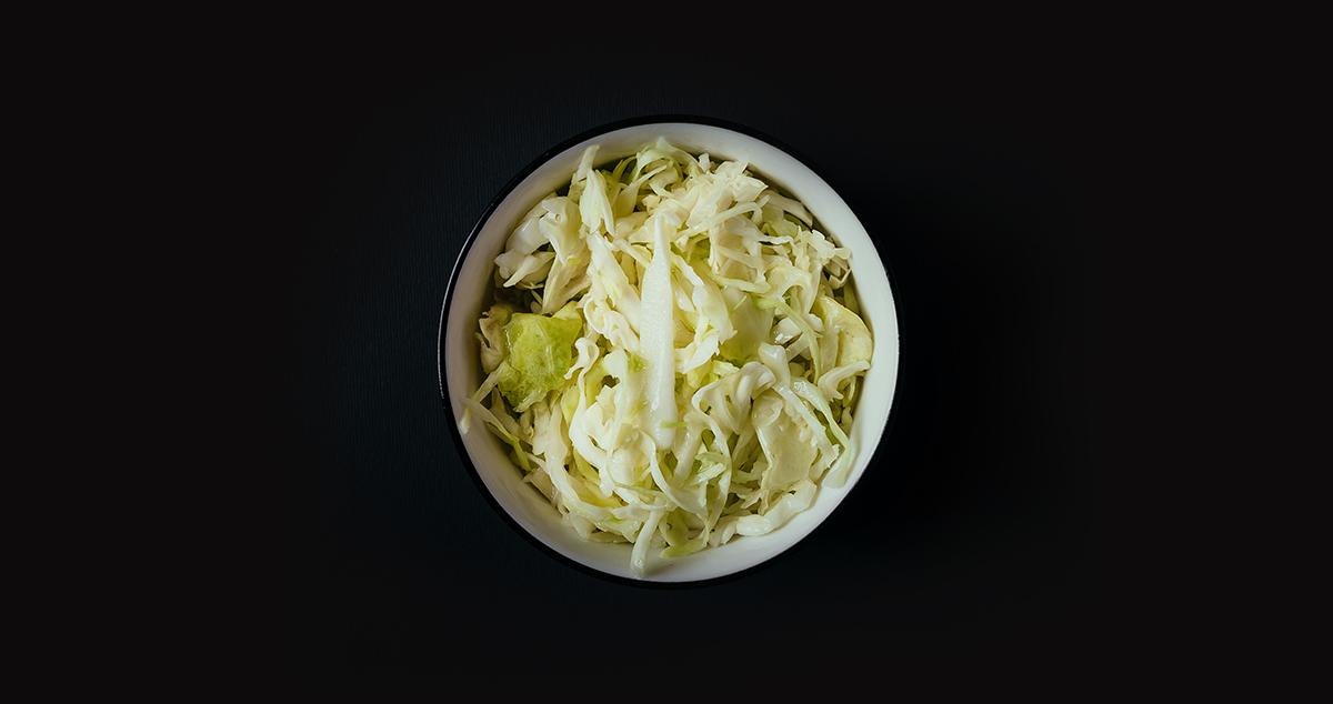 Kupus salata - Pile i prase